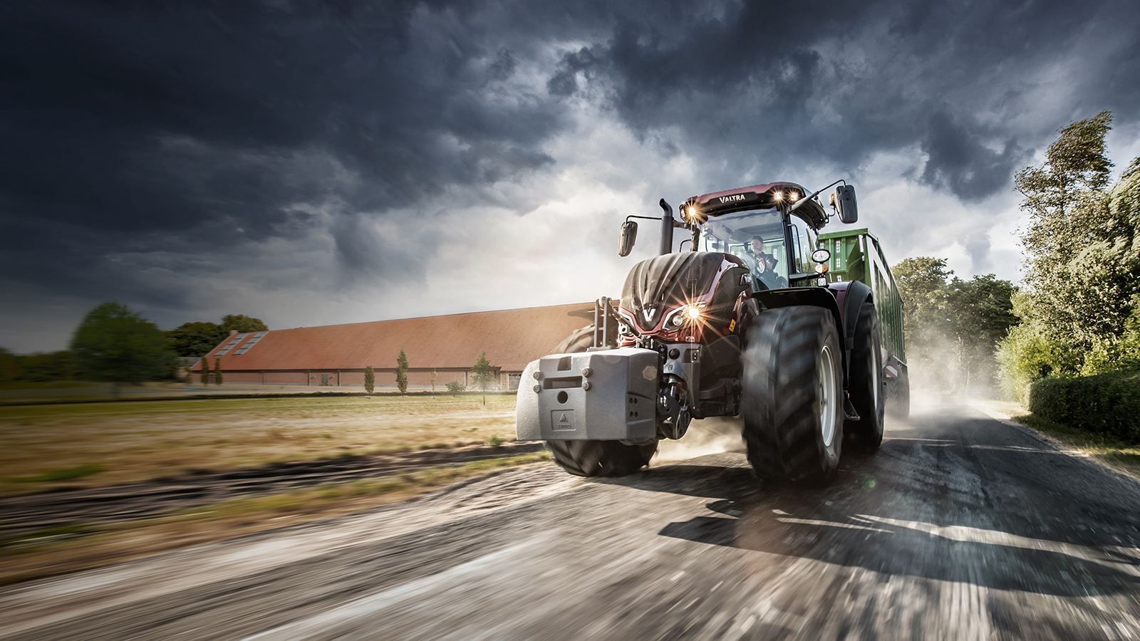 valtra s4 series wite on the field working